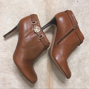 Coach Shoes - Coach Salene Caramel Leather Ankle Boot 8